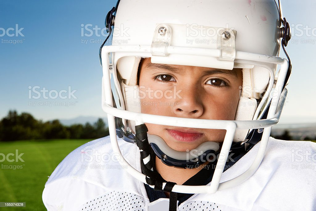 Little League Football Portrait royalty-free stock photo