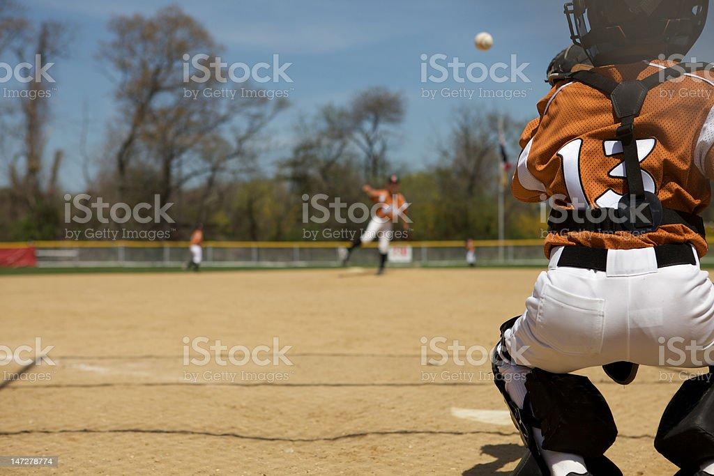 Little League Pitch stock photo