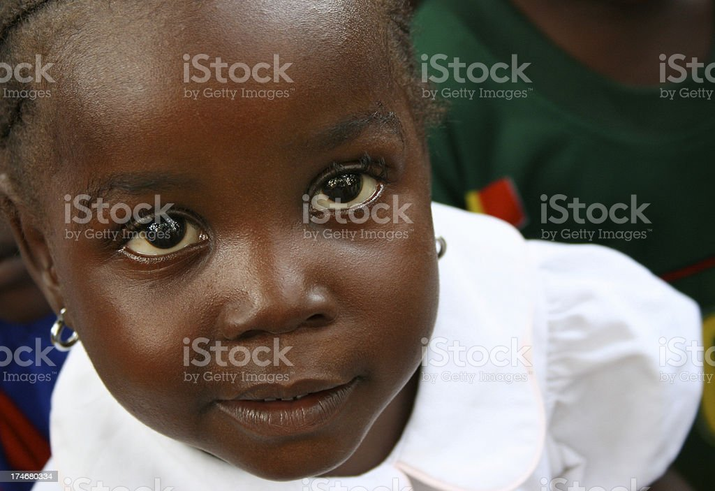 Little Liberian Girl royalty-free stock photo