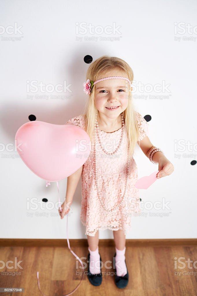Little loving girl stock photo
