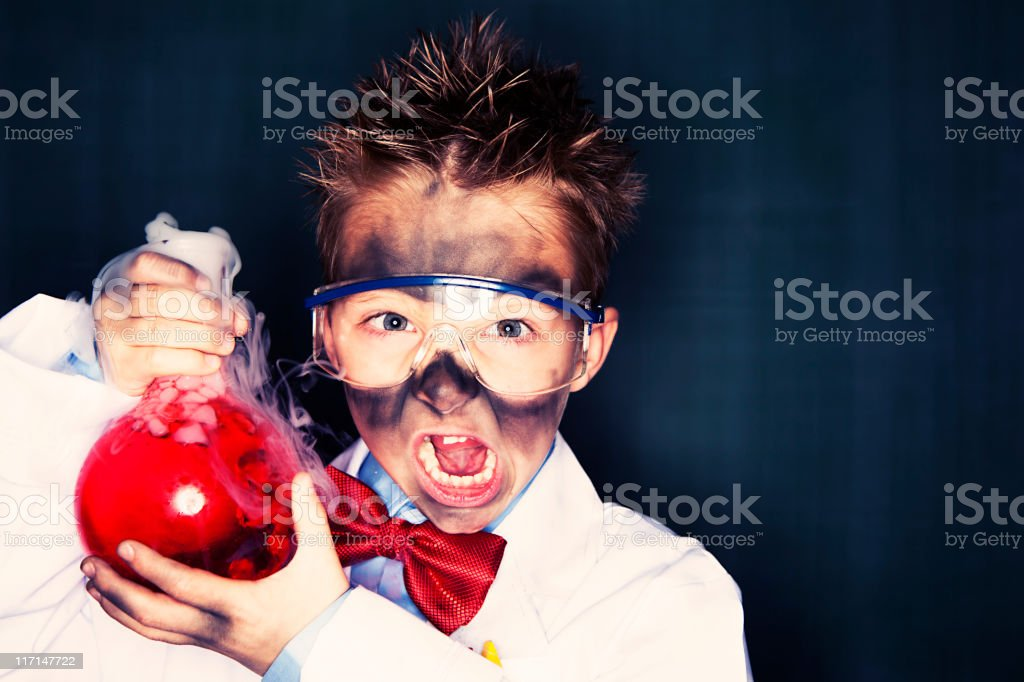Little Mad Scientist stock photo