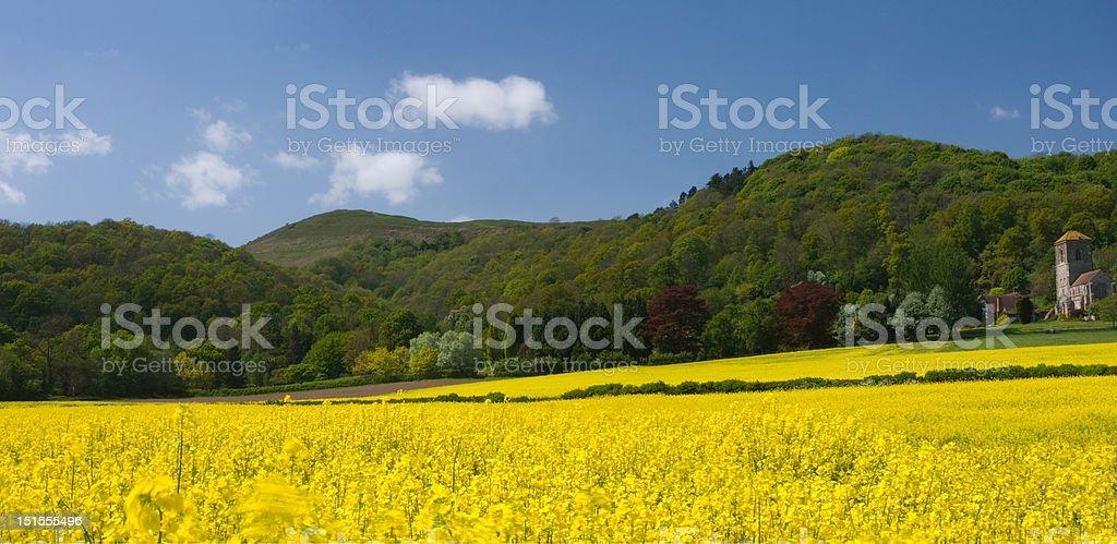 Little Malvern panorama stock photo