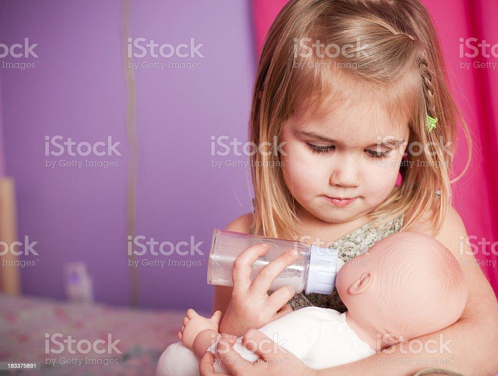 Little Mama stock photo