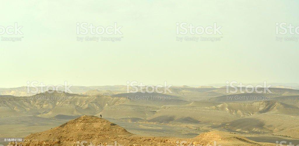 Poco hombre, gran desierto foto de stock libre de derechos