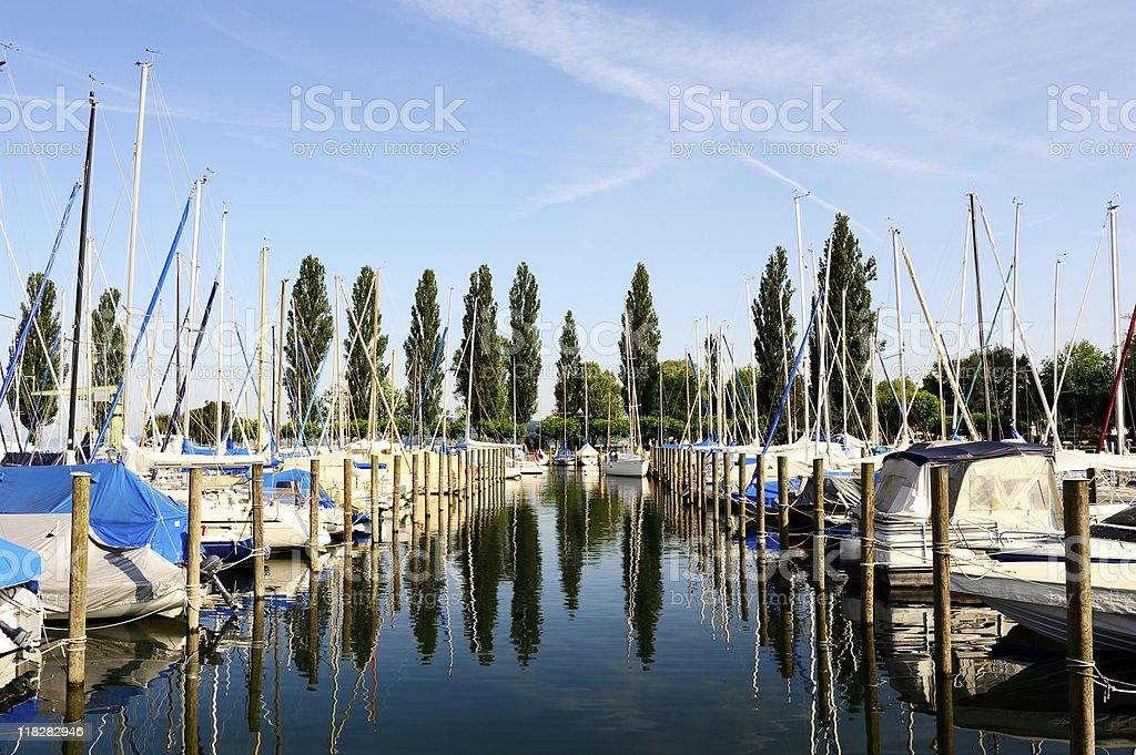 Little Marina Lake Constance Uhldingen Summer royalty-free stock photo