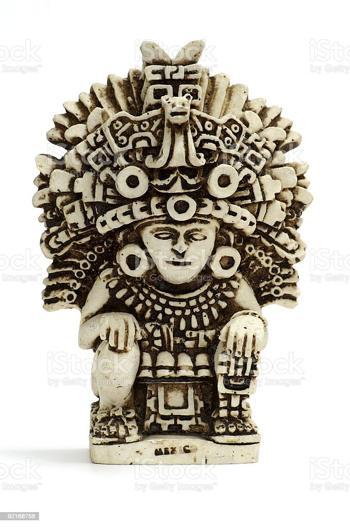 little mayan or incan statue stock photo