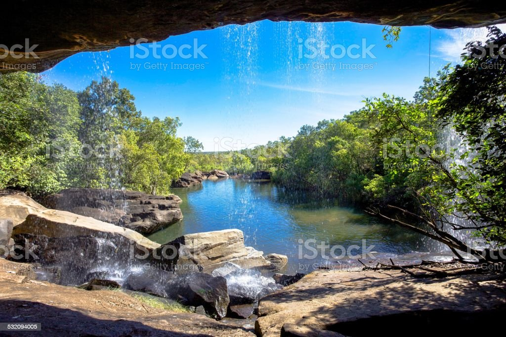 Little Mertens Falls stock photo