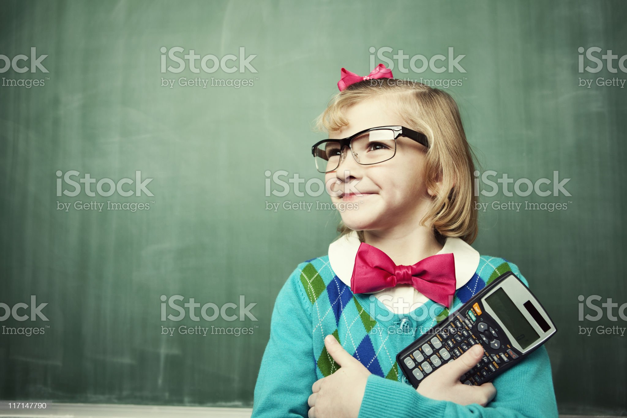 Little Miss Accountant royalty-free stock photo