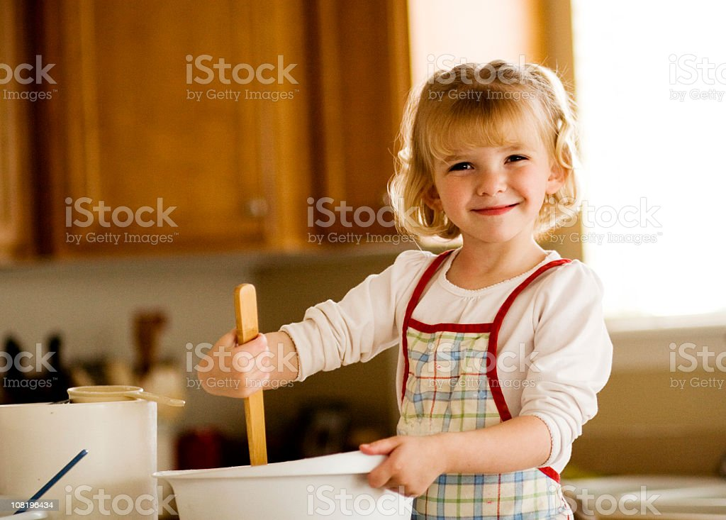 Little Miss Cook royalty-free stock photo