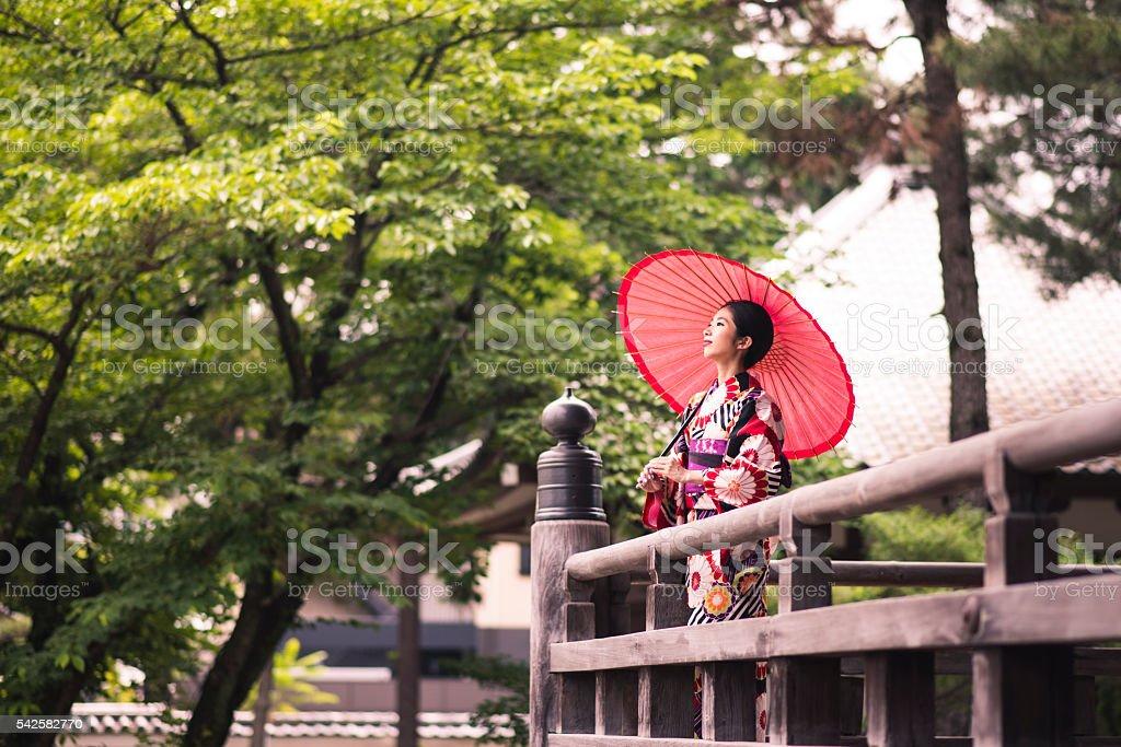 Little miss Geisha stock photo
