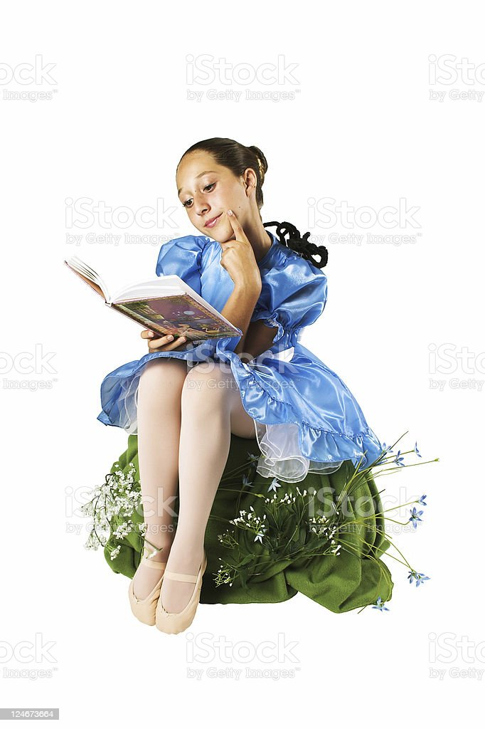 Little Miss Muffet royalty-free stock photo
