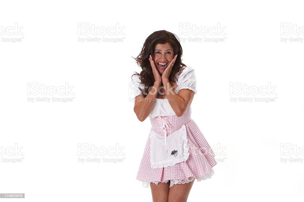 Little Miss Muffet scream royalty-free stock photo