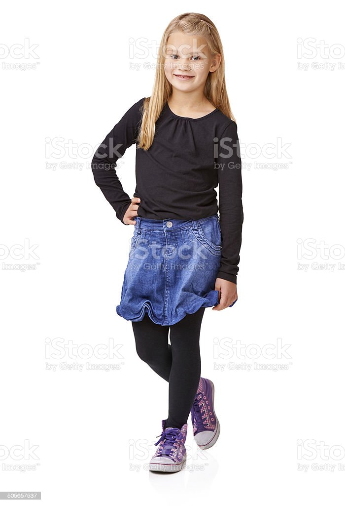 Little Miss stock photo