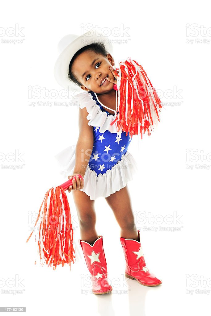 Little Miss Red, White and Blue stock photo