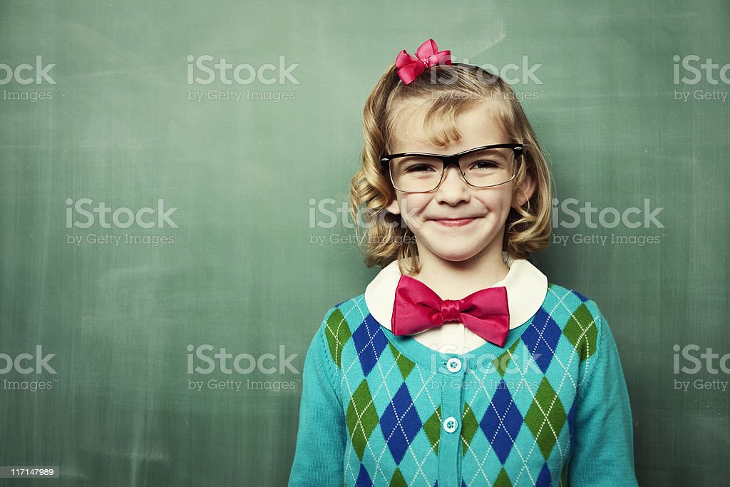 Little Miss Smart royalty-free stock photo