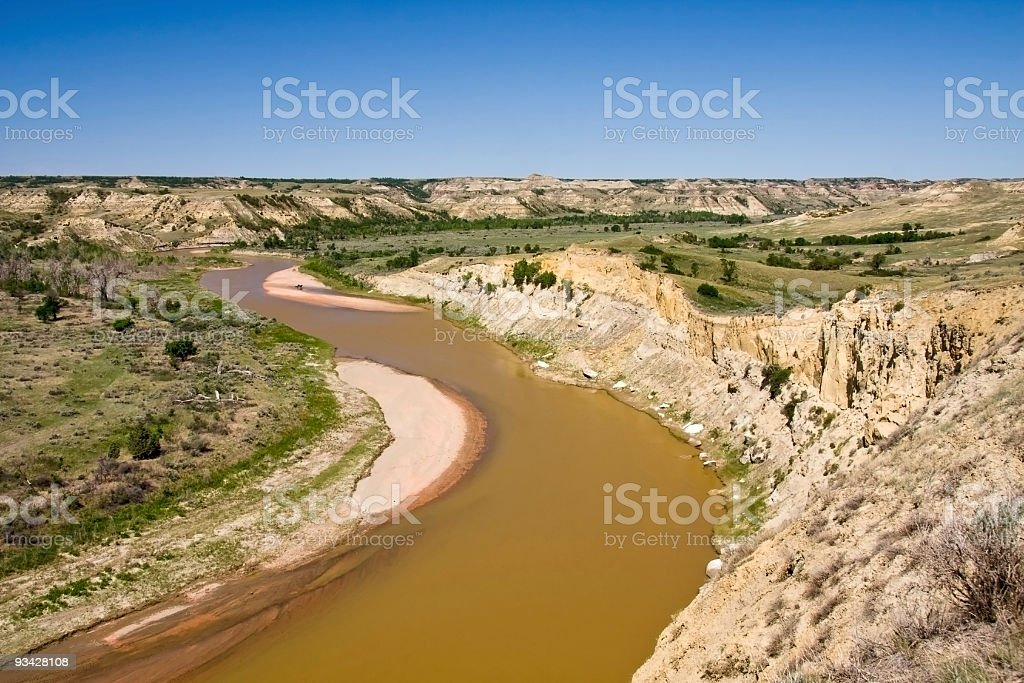 Little Missouri River royalty-free stock photo