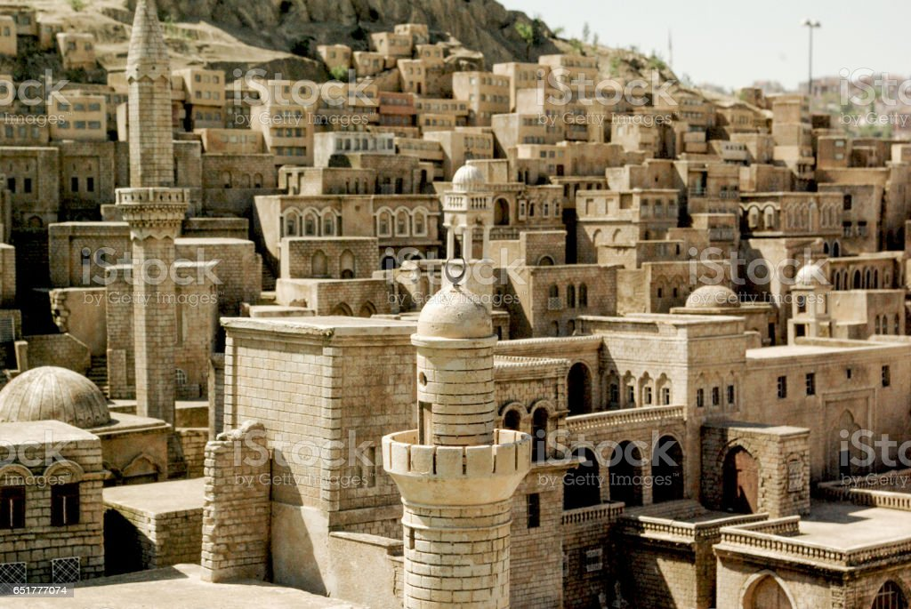 Little model of  Mardin Stone Houses stock photo