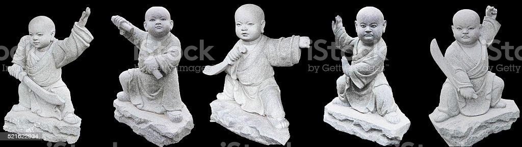 Little monks stock photo