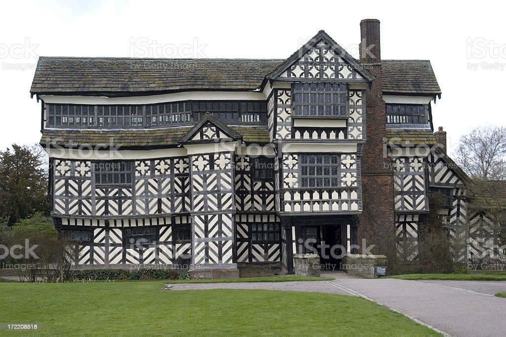 Little Moreton Hall, UK stock photo