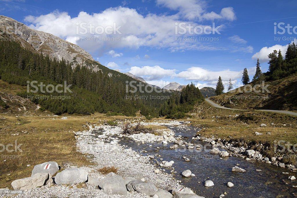 Little Mountain Stream royalty-free stock photo
