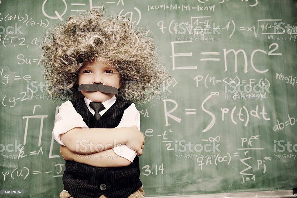 Little Mr. Smarty Pants stock photo