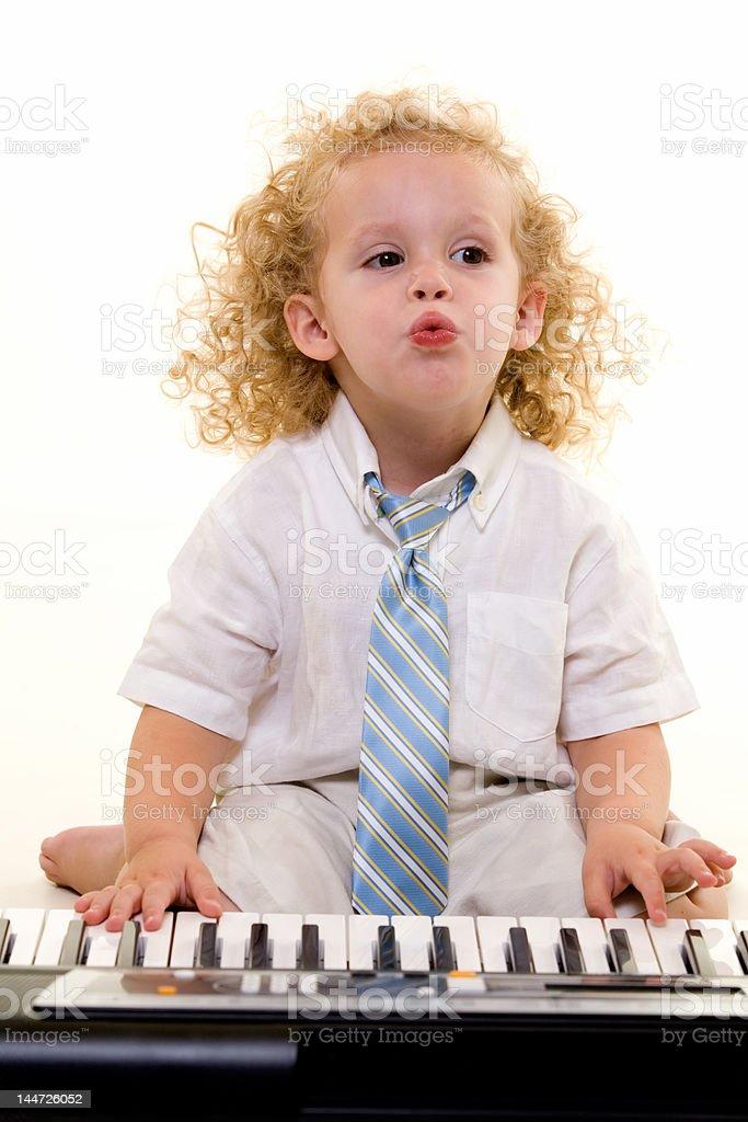 Little musician stock photo