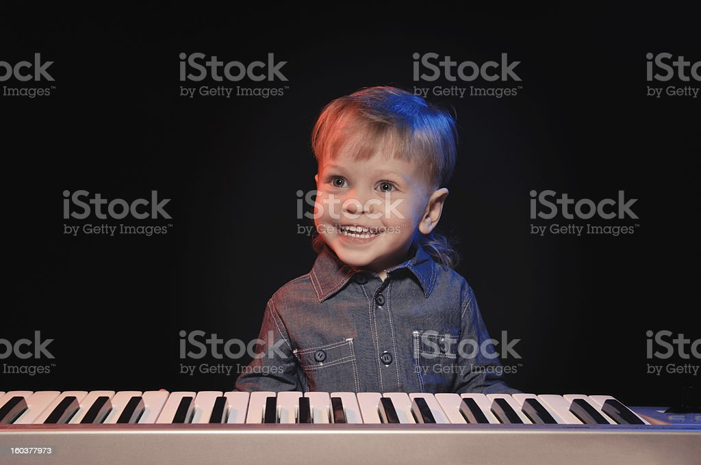 little musicman royalty-free stock photo