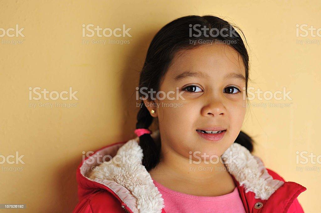Little Native American girl royalty-free stock photo