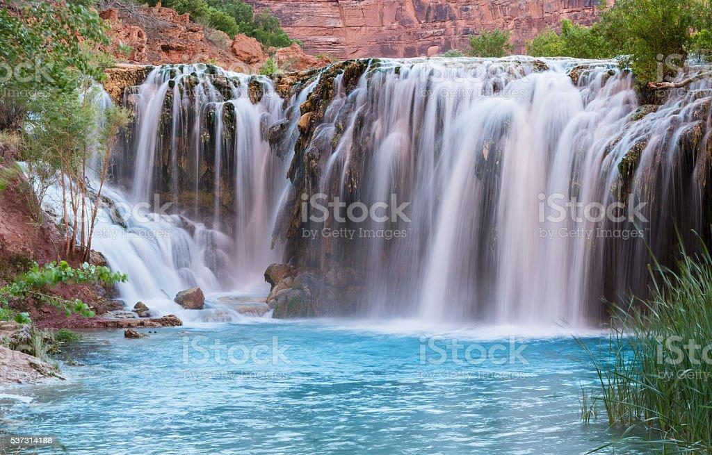 Little Navajo Falls Panorama stock photo