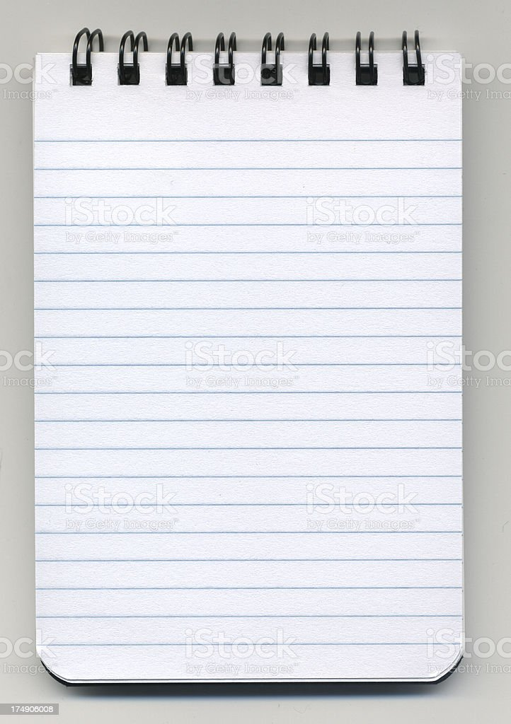 Little notepad with clipping path royalty-free stock photo