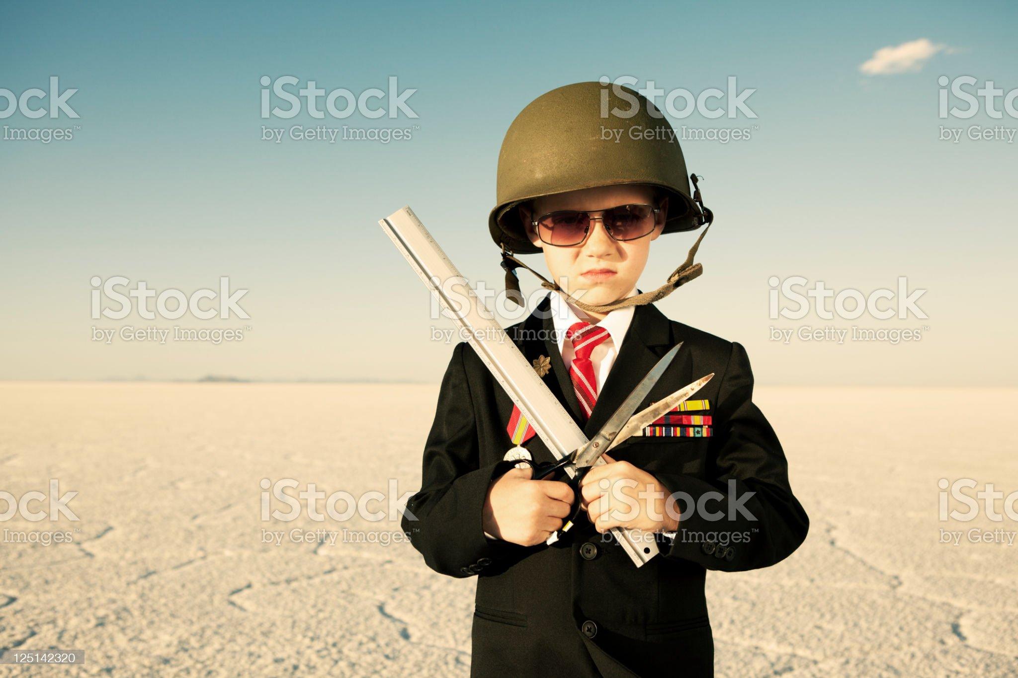 Little Office Warrior royalty-free stock photo