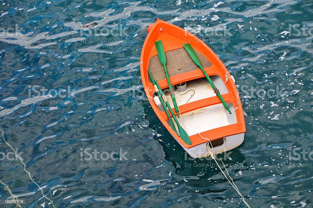 Little Orange Row Boat royalty-free stock photo