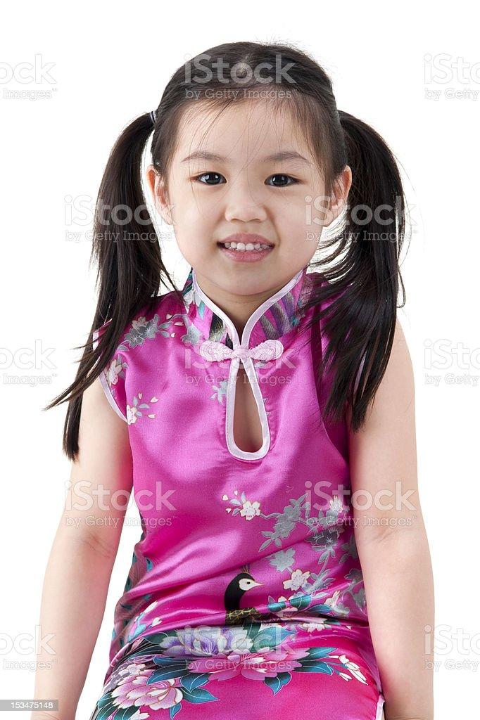 Little oriental girl royalty-free stock photo