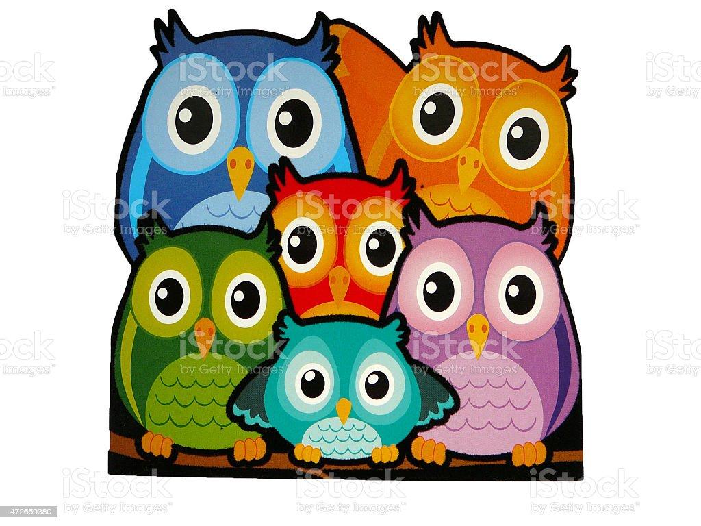 Little Owls stock photo