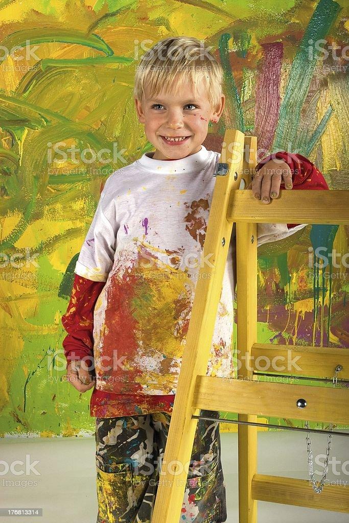 Little painter royalty-free stock photo