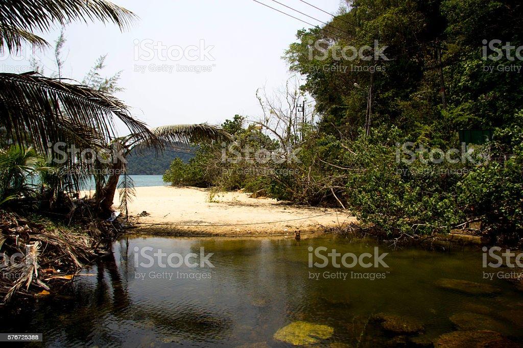 Pequeño paraíso en la Isla stock photo