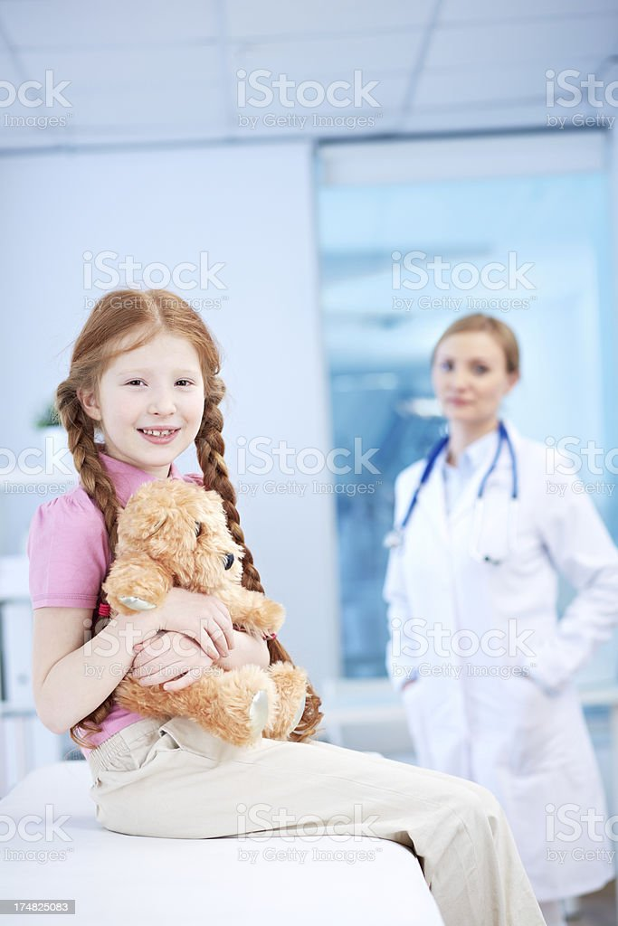 Little patient royalty-free stock photo