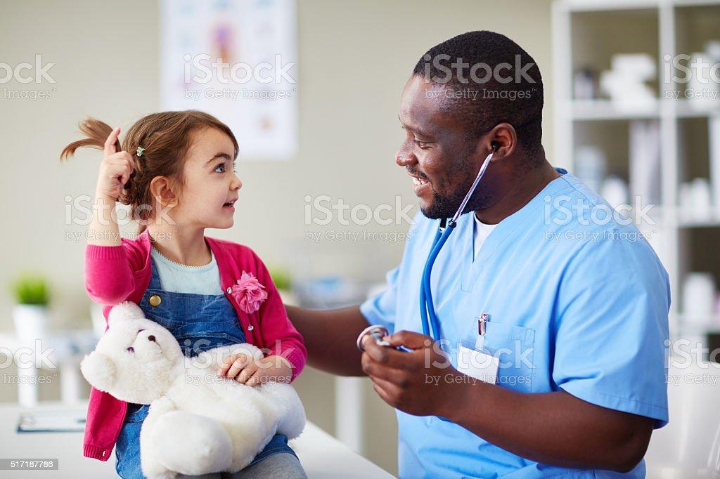 Little patient stock photo