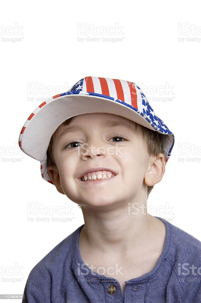 Little Patriot royalty-free stock photo