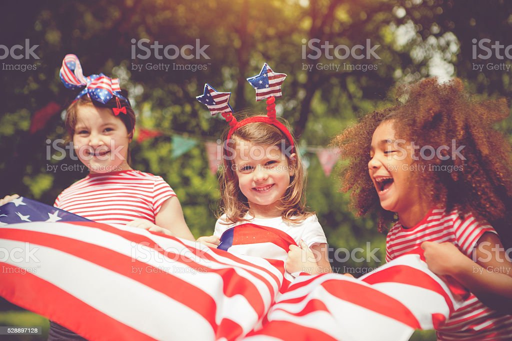 Little patriots stock photo