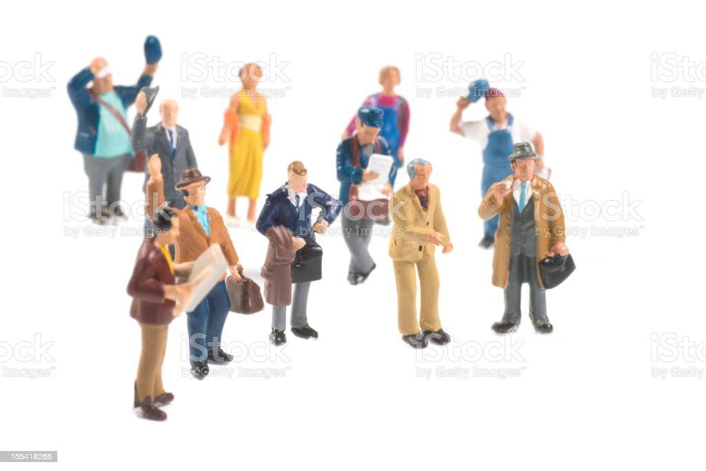 little people figurines stock photo