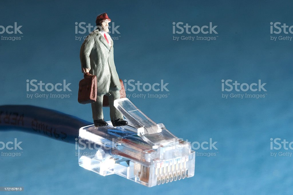 Little People - 'On The Network' royalty-free stock photo