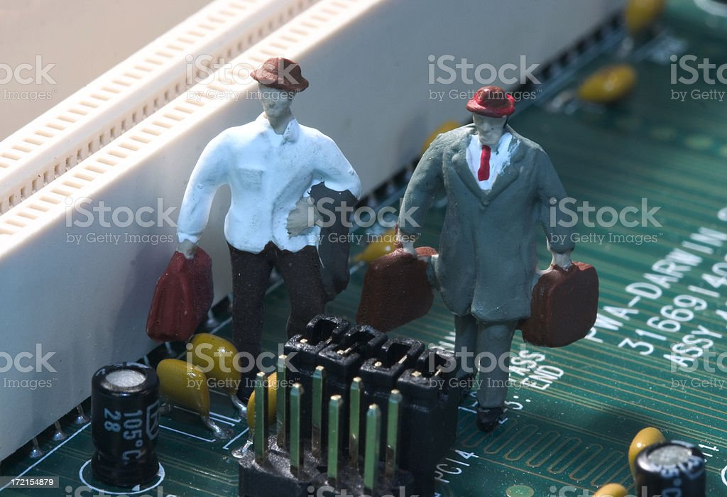 Little People - 'Tech Workers' royalty-free stock photo