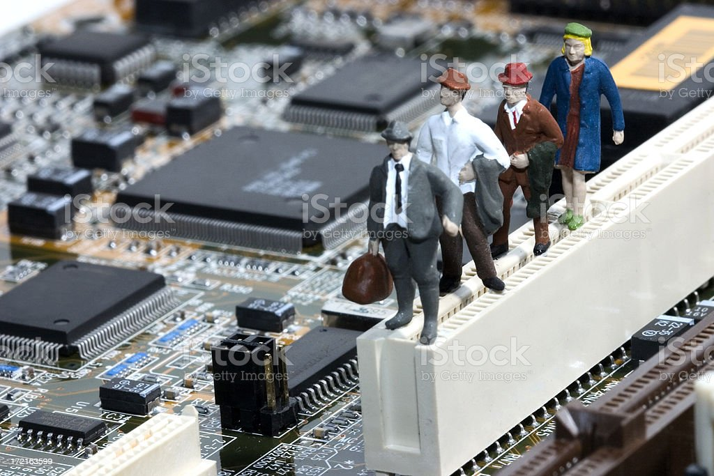 Little People - 'Technology Moves Along' royalty-free stock photo