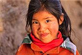 Little Peruvian girl near Canion Colca, Arequipa, Peru