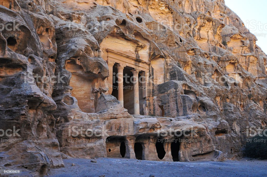 Little Petra, Jordan stock photo