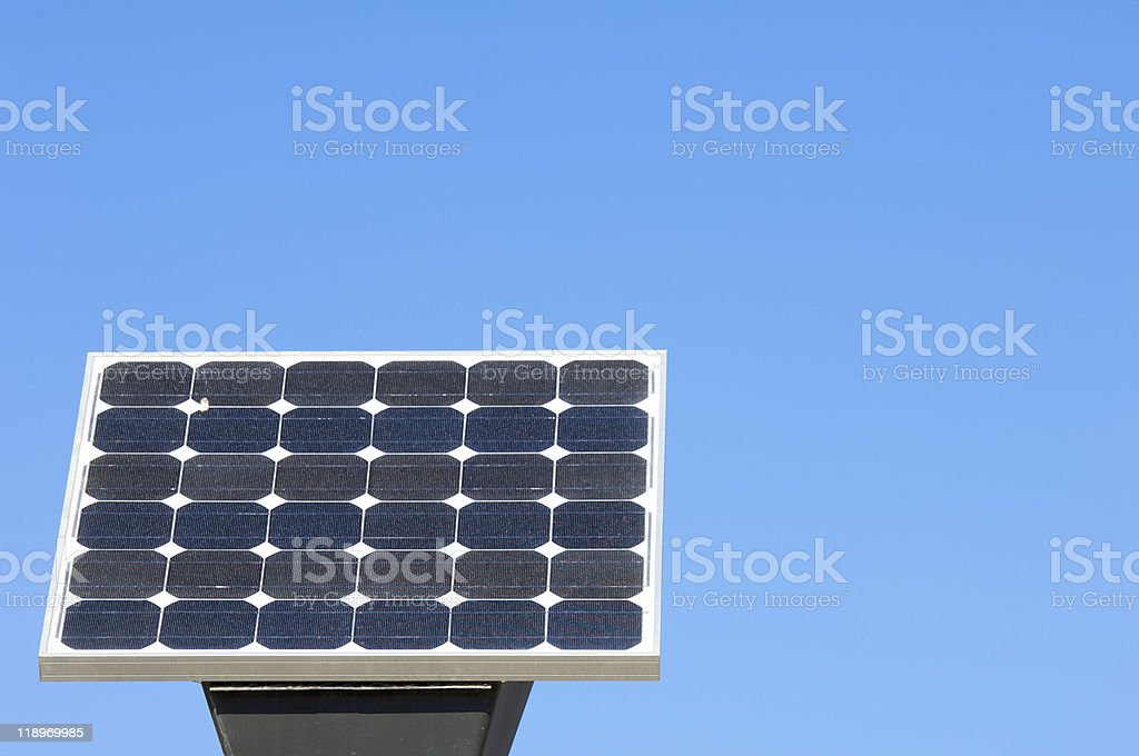 little photovoltaic panel stock photo