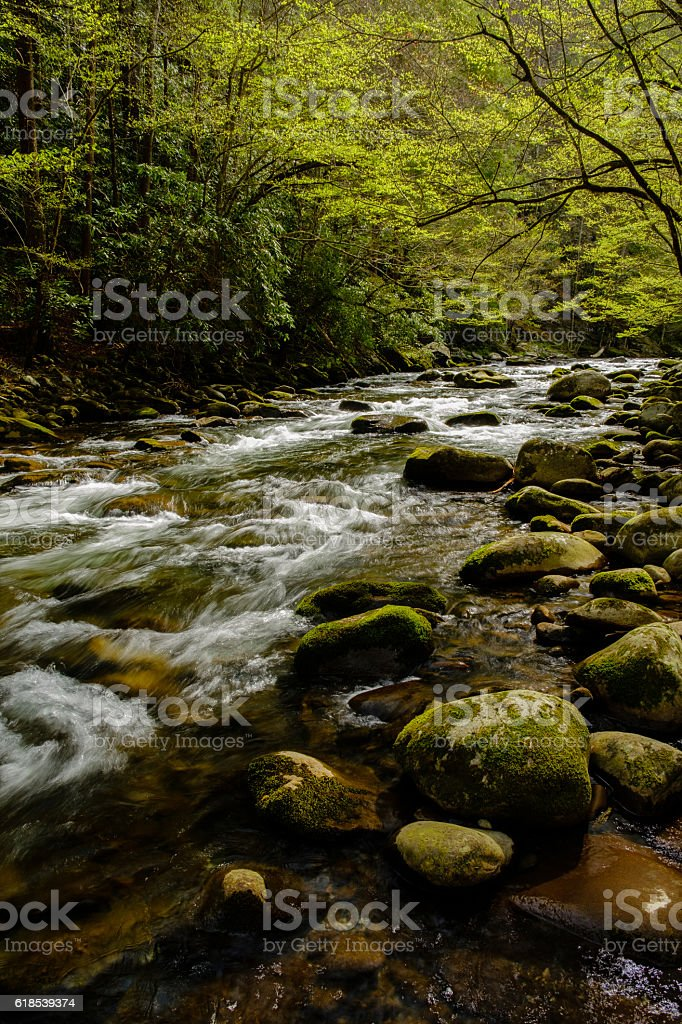 Little Pigeon River, Great Smoky Mountains stock photo