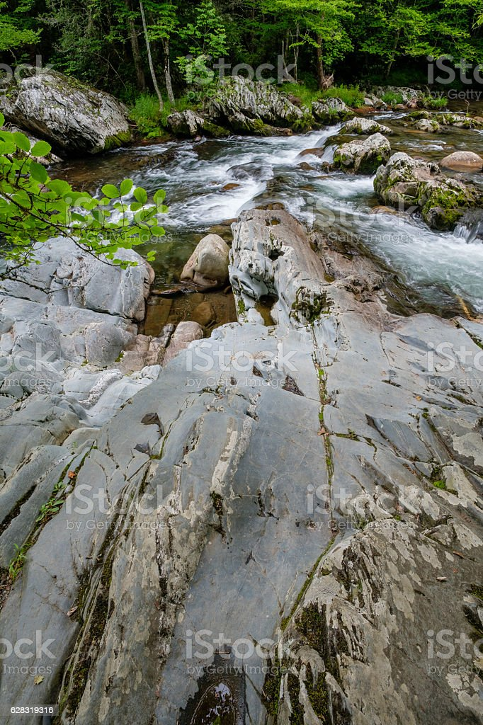 Little Pigeon River stock photo