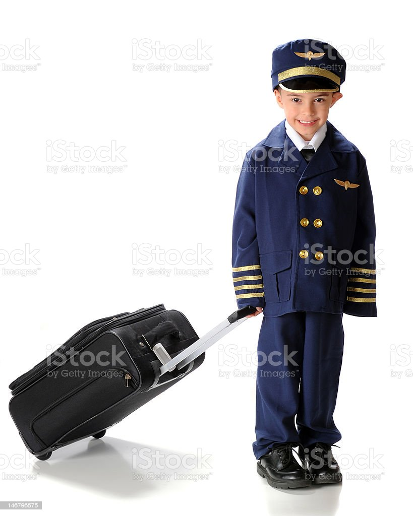 Little Pilot on the Go stock photo